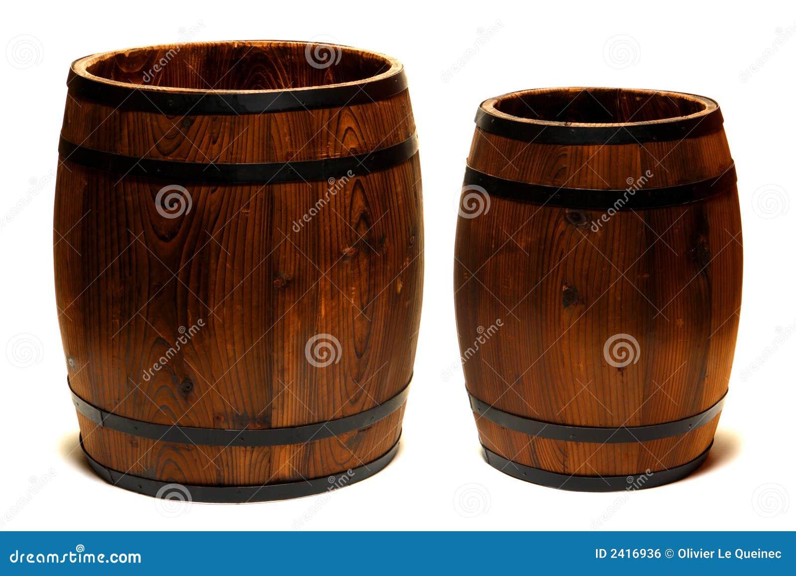 Barriles de madera foto de archivo imagen de vendimia for Barriles de madera bar