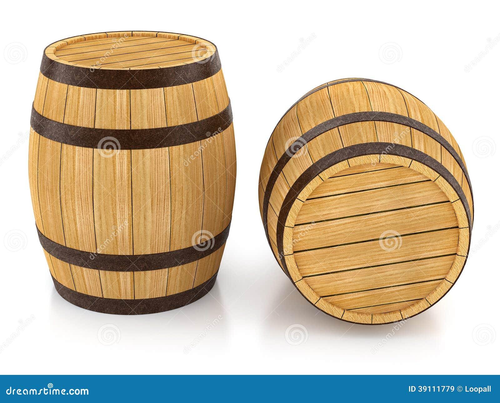 Barriles De Madera Para El Almacenamiento Del Vino Y De La