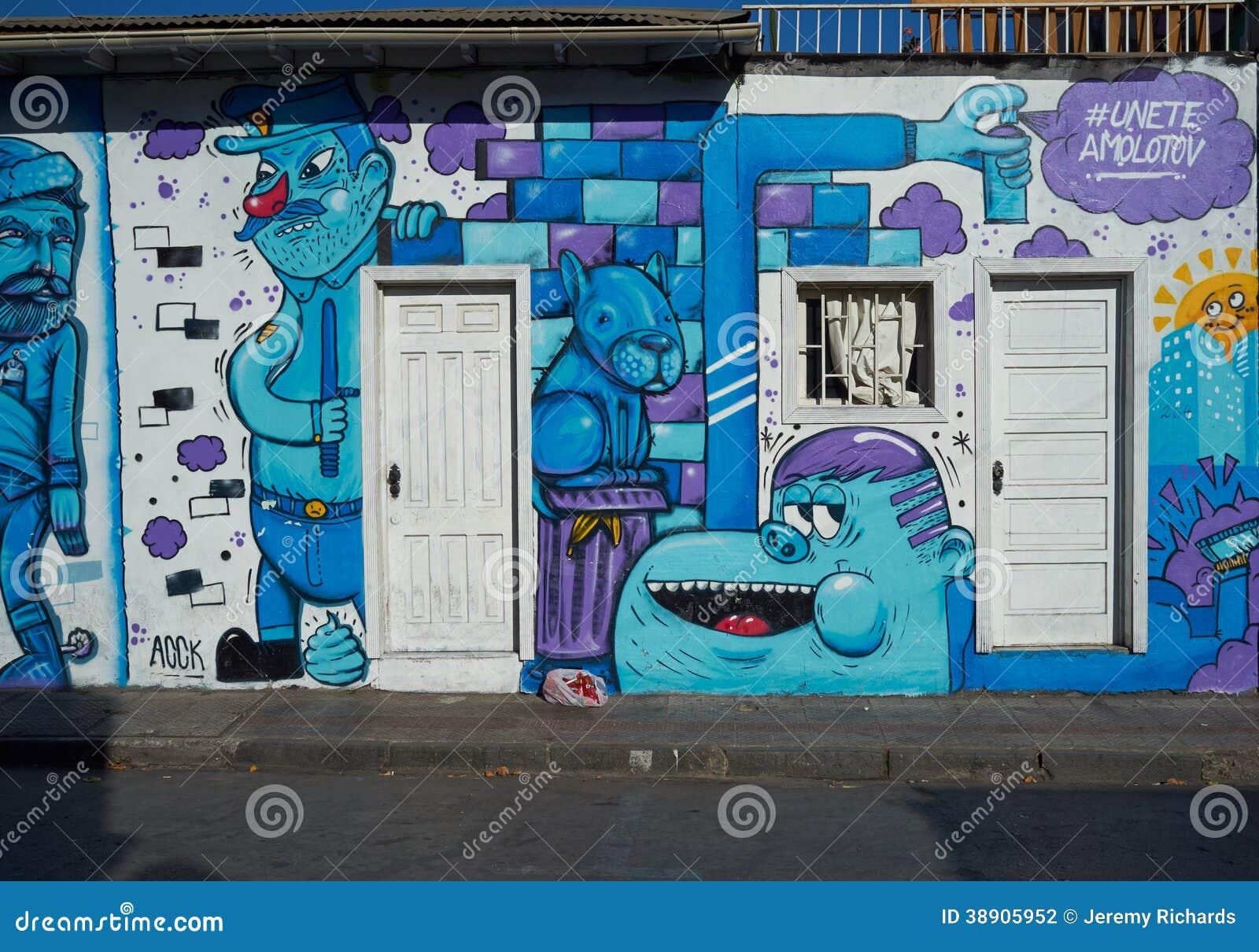 Barrio bellavista editorial photography image 38905952 for Carpenter papel mural santiago chile