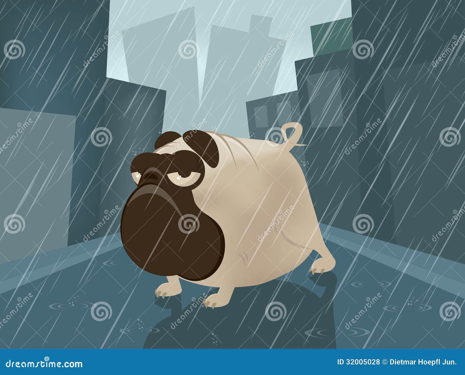 Barro amasado en un día lluvioso