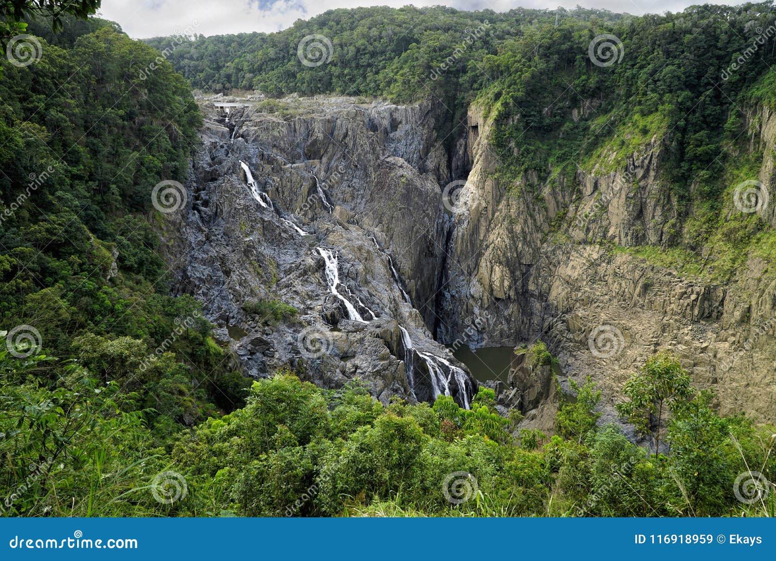 Barron Falls turist- dragning
