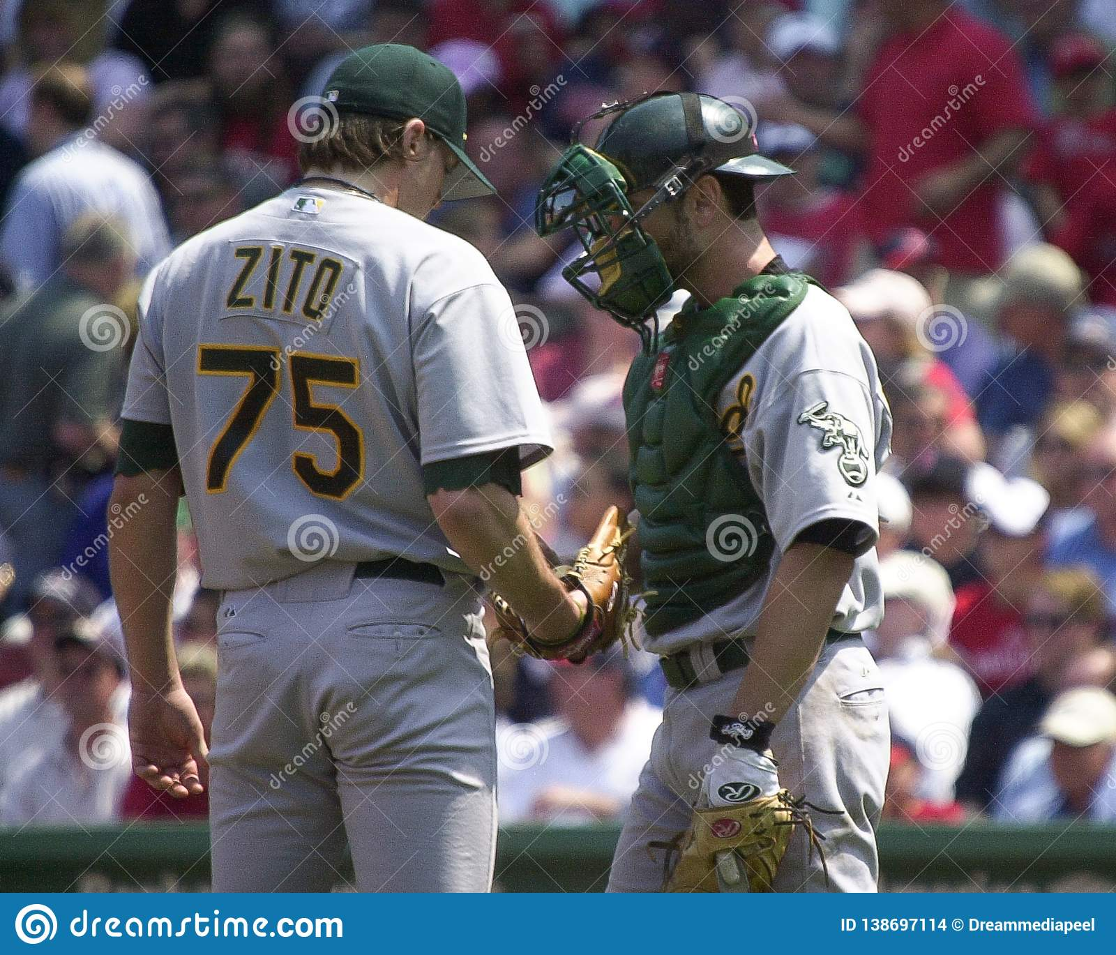 Barry Zito y Jason Kendall