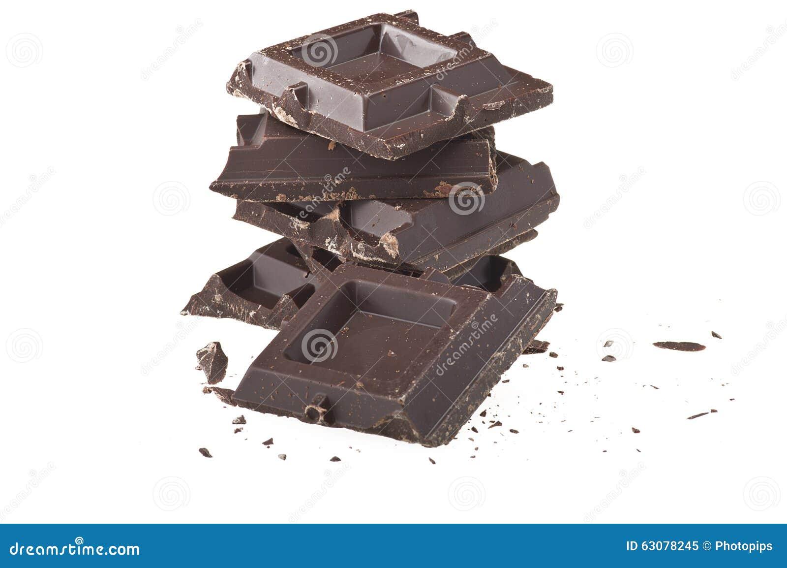 Download Bars de chocolat image stock. Image du sucrerie, heap - 63078245