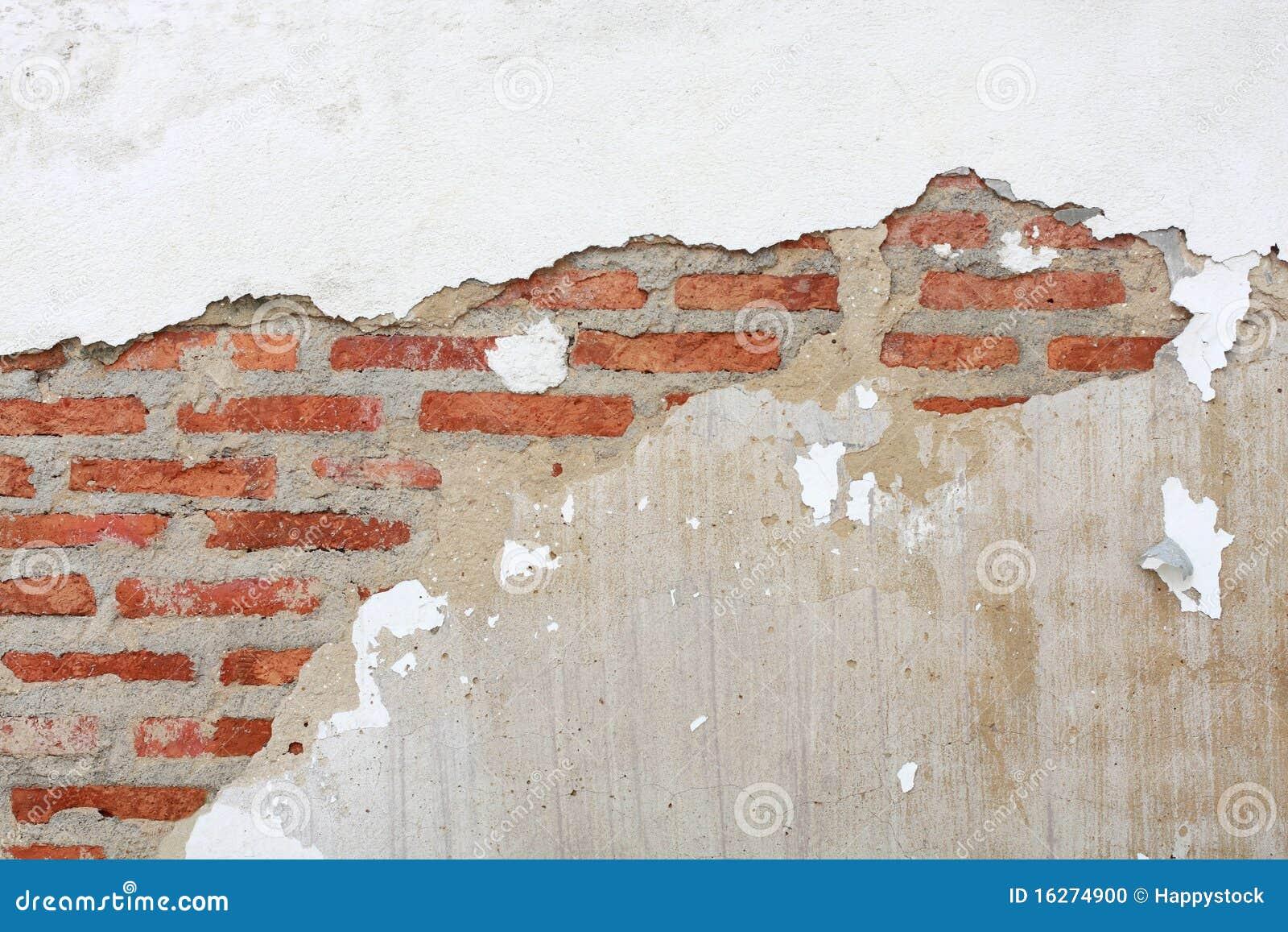 Barst van bakstenen muur