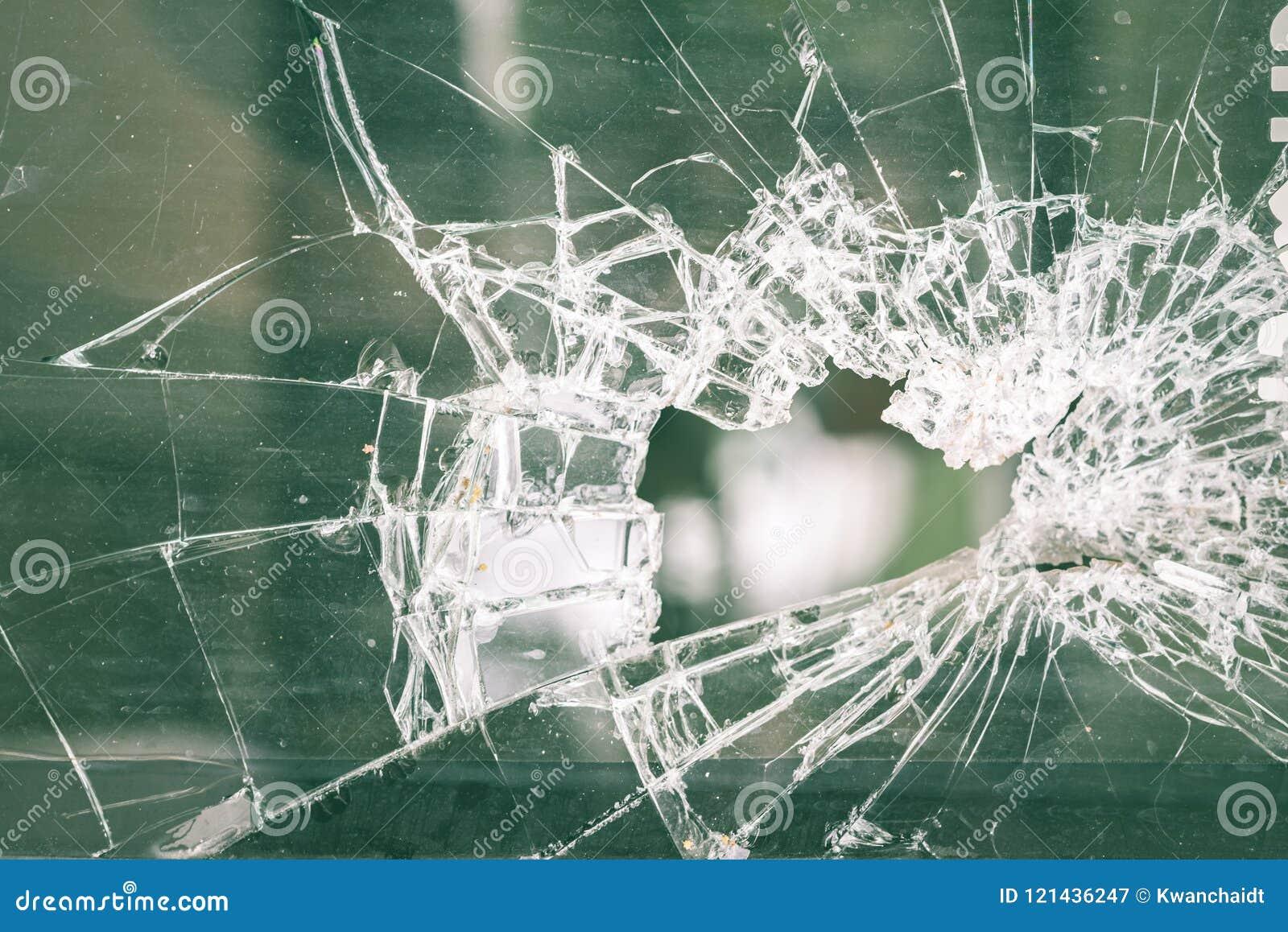 Barst van glasvenster voor achtergrond