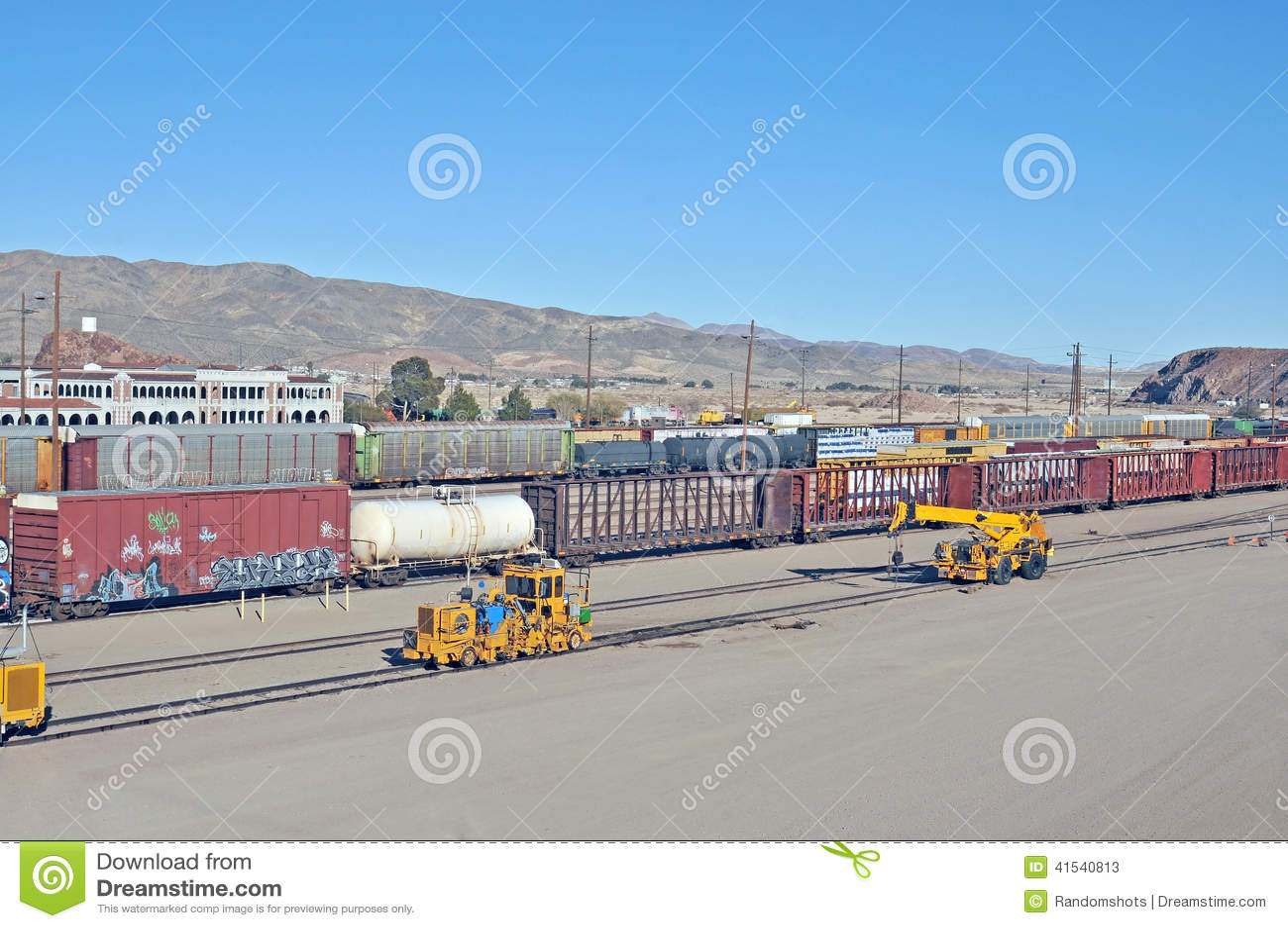 Barstow Rail Yard stock image  Image of equipment, barstow