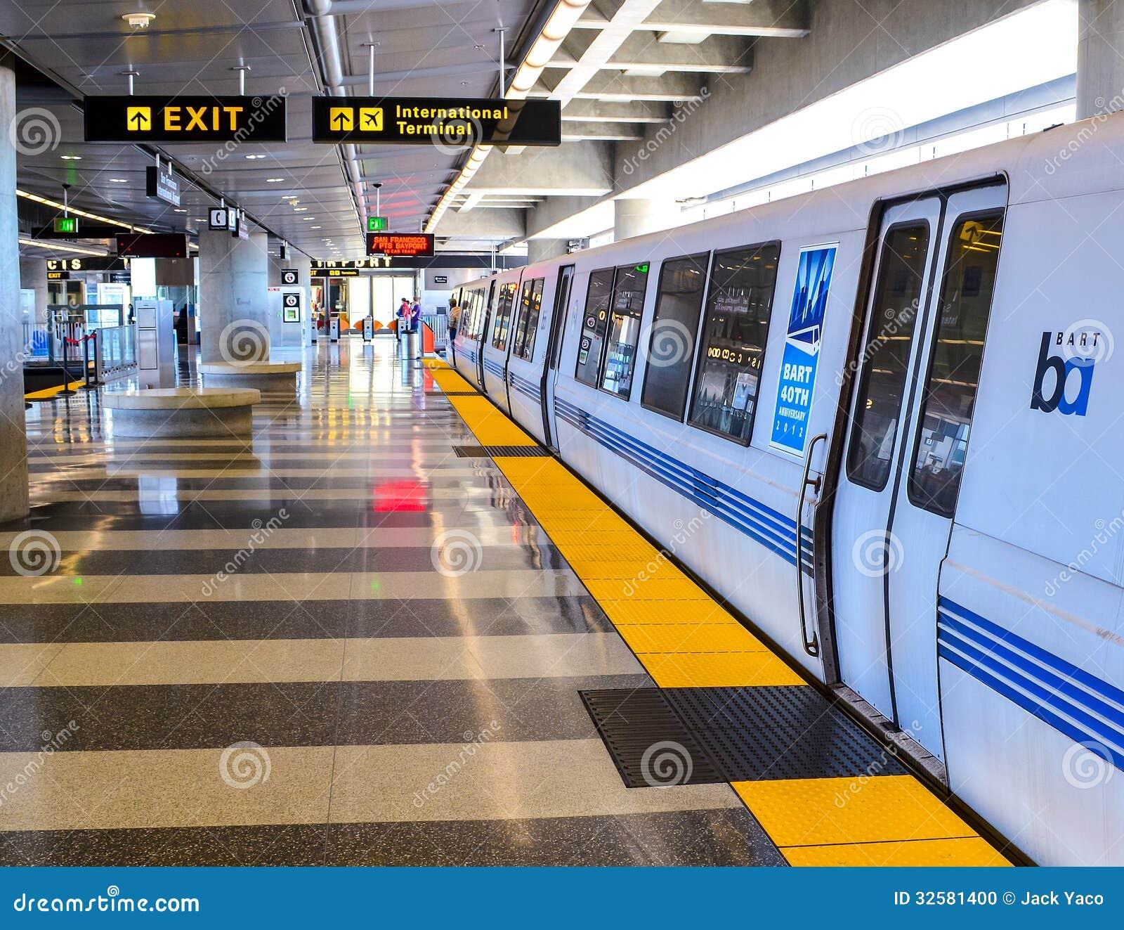 BART Train chez le San Francisco Airport