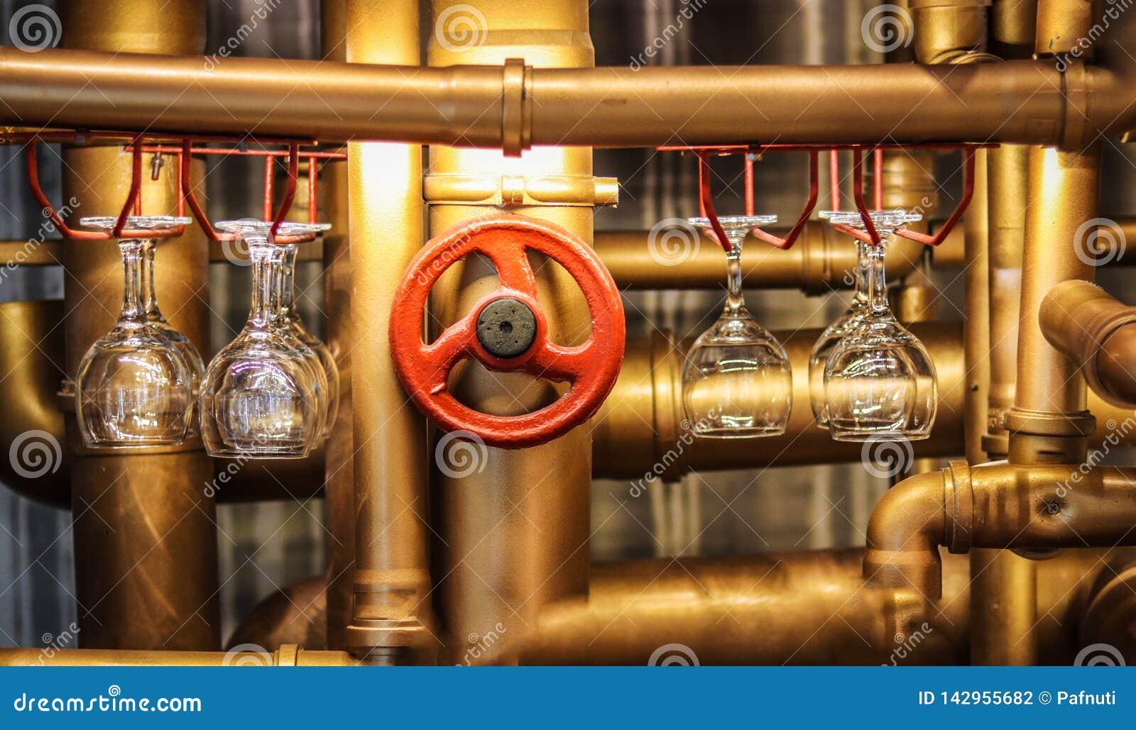 Barteller in de stijl van steampunk
