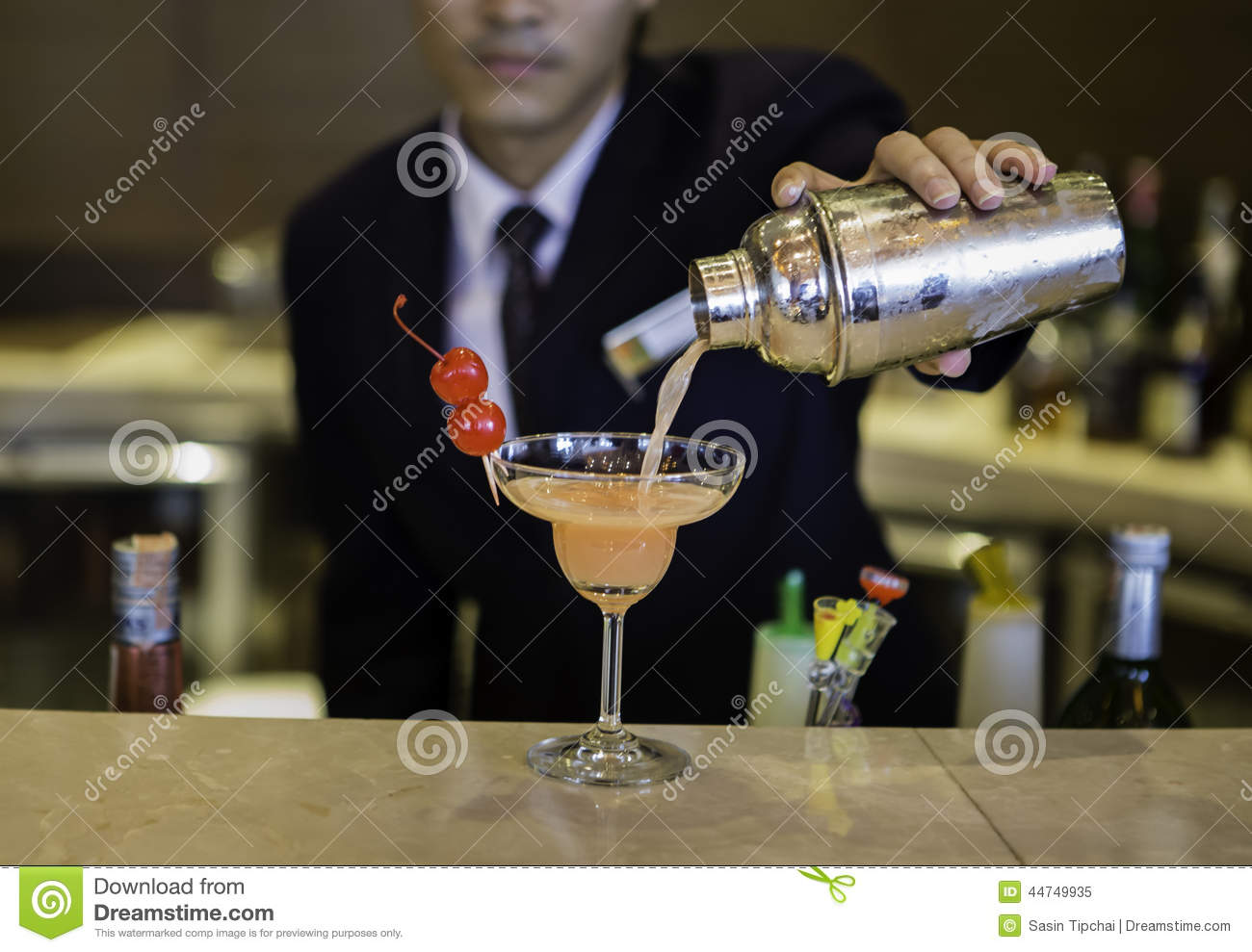 Bartender is making cocktail stock photo image 44749935 for Cocktail bartender
