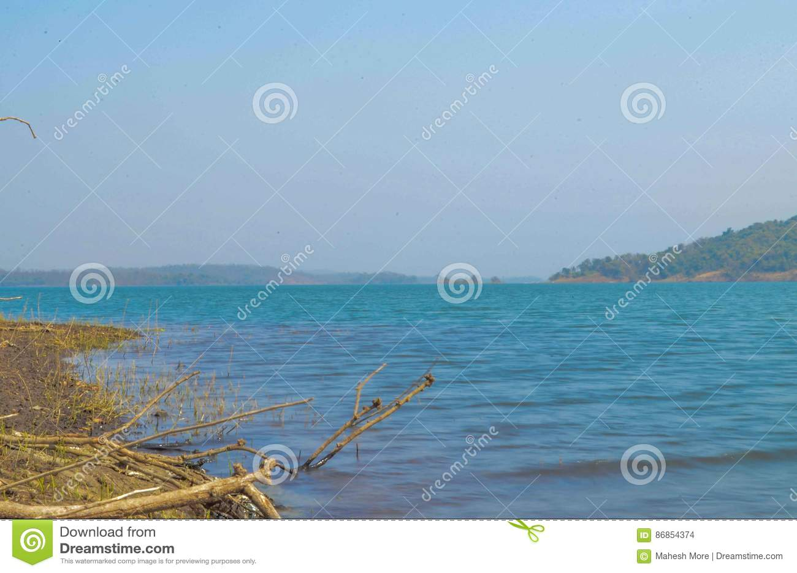 barvi dam stock photo image of near badlapur thane 86854374