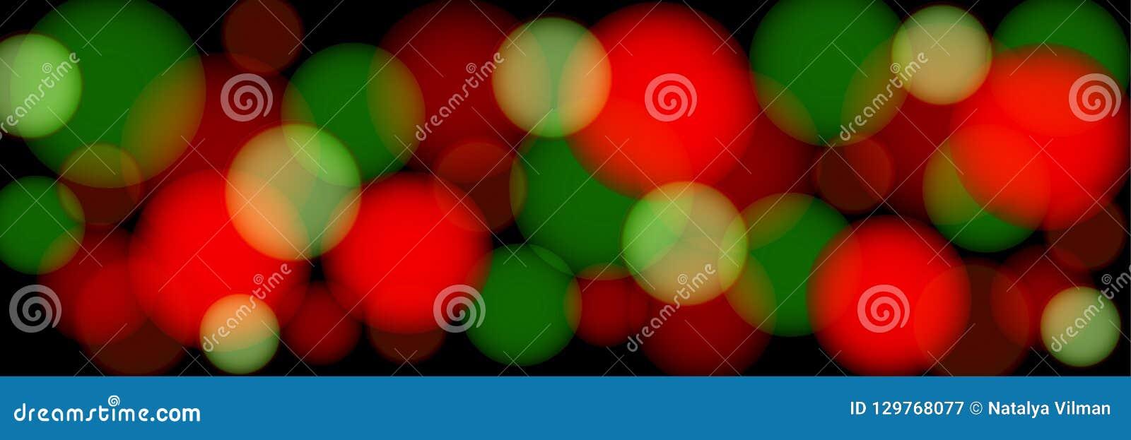 Barwiący bokeh na czarnym tle abstrakcjonistyczna panoramiczna ilustracja