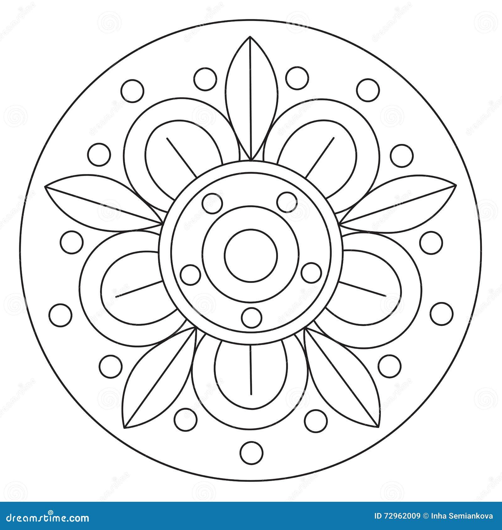 barwić duży kwiatu mandala ilustracja wektor ilustracja