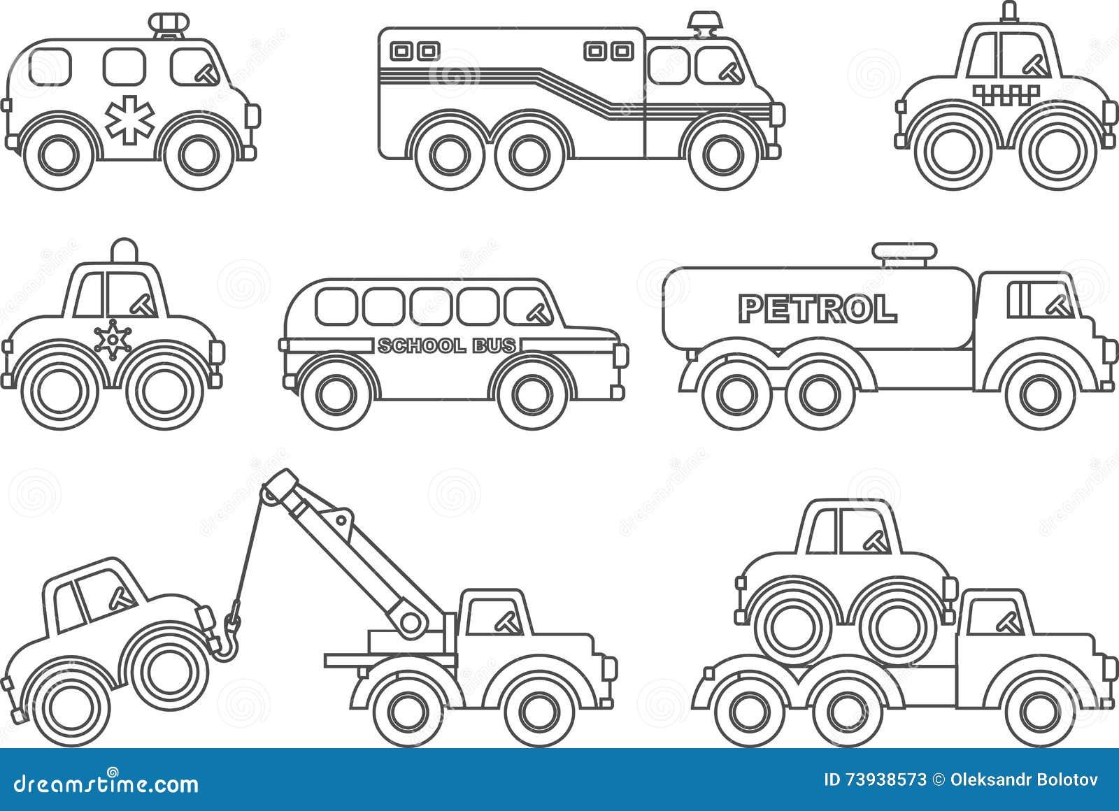 Barwić strony Set różne sylwetek dzieci zabawki