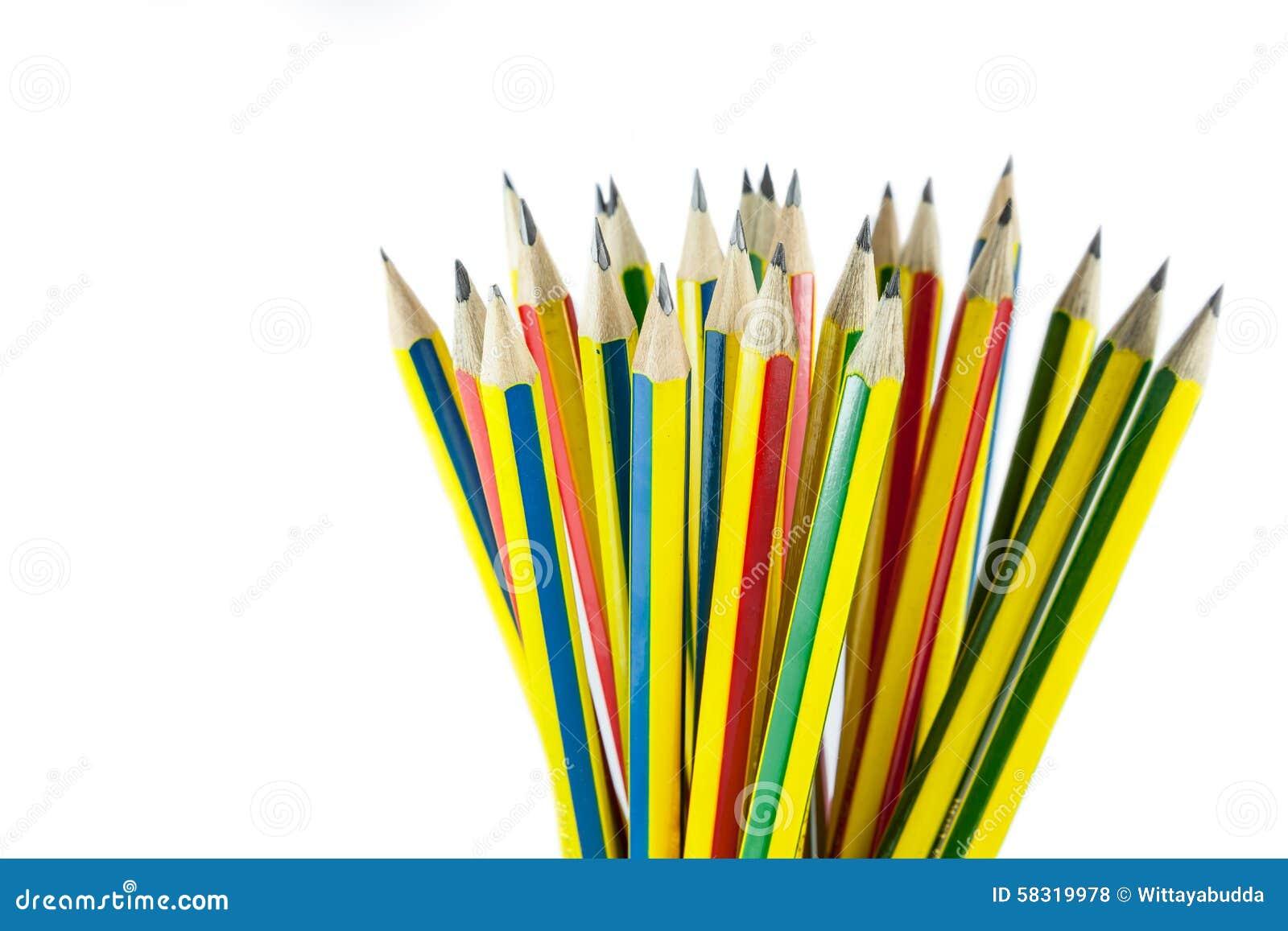 Barwił wiele ołówki