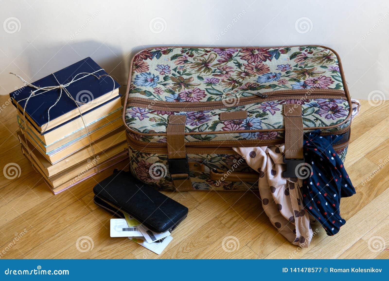 Barwiona walizka dla wycieczki z dwa scarves wtyka z go,