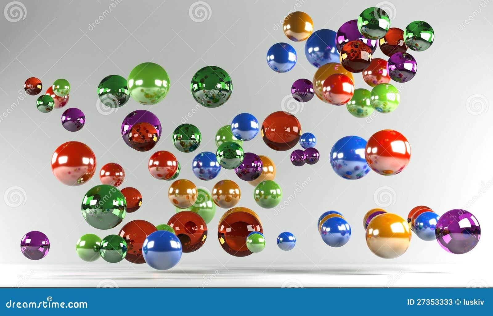 Barwione piłki