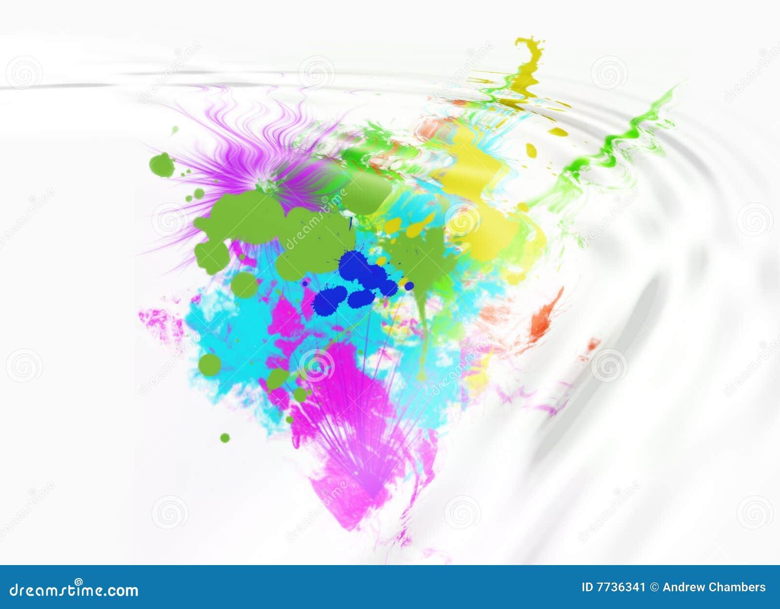 Barwioni abstraktów splotches