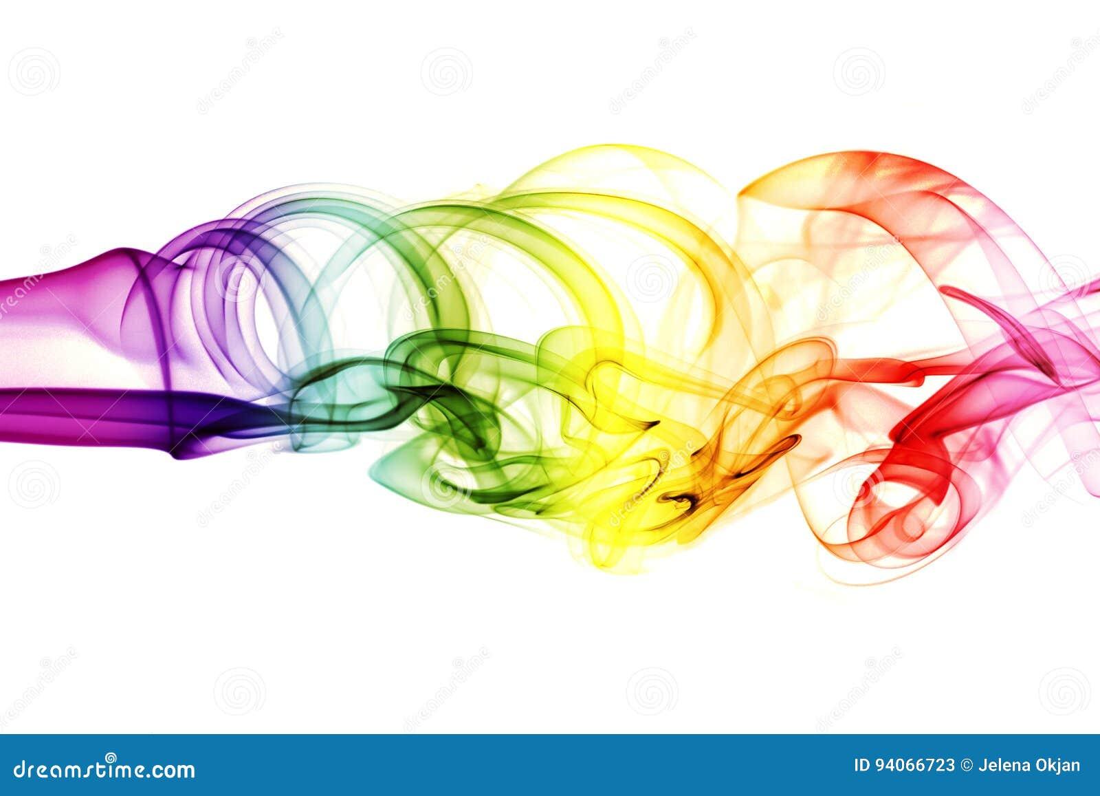 Barwiony abstrakta dym