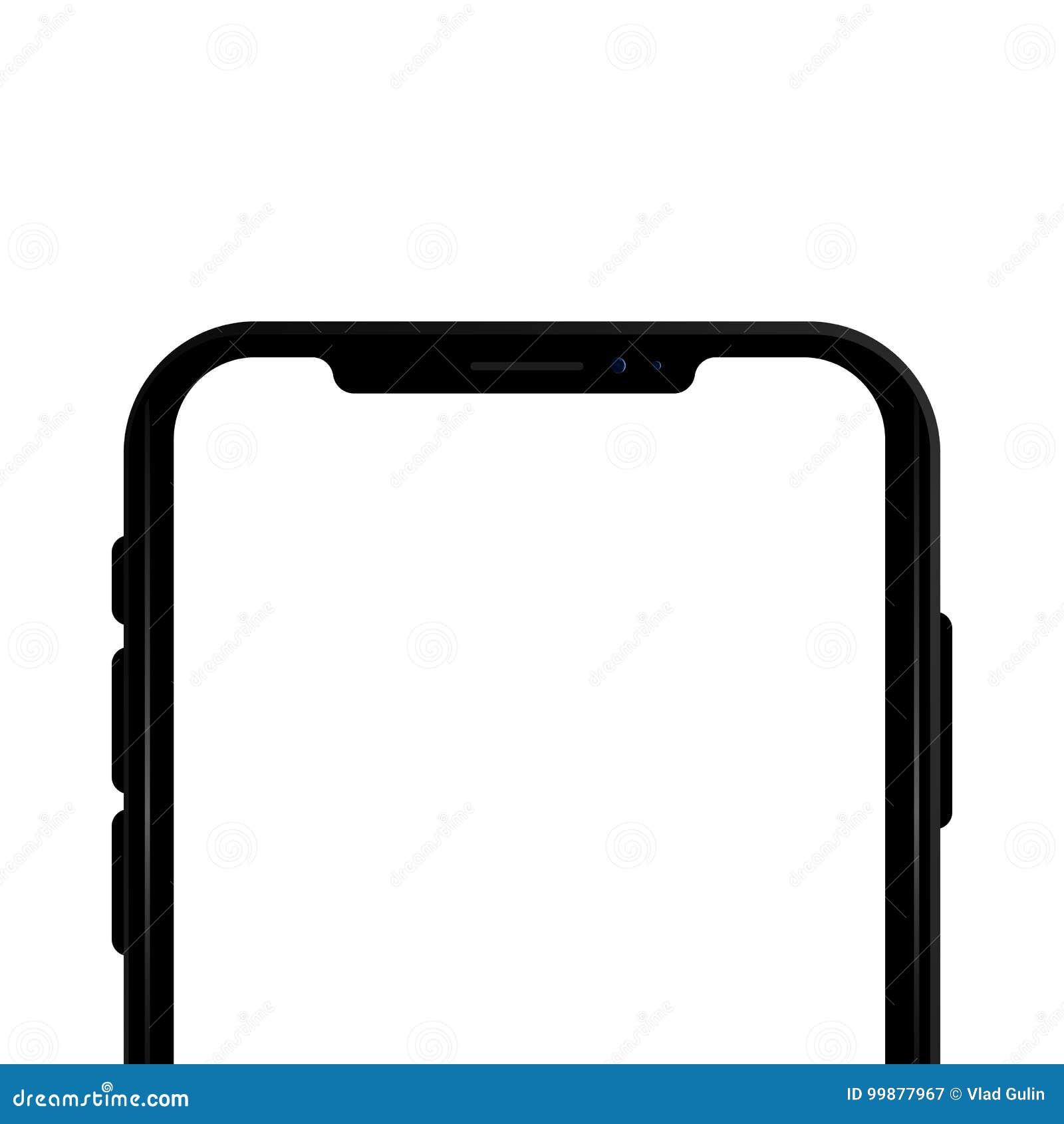Barwiony pojęcie nowożytny telefon z podwójnej kamery mobilnymi szablonami na przejrzystym tle Egzamin próbny up telefon Wysokiej