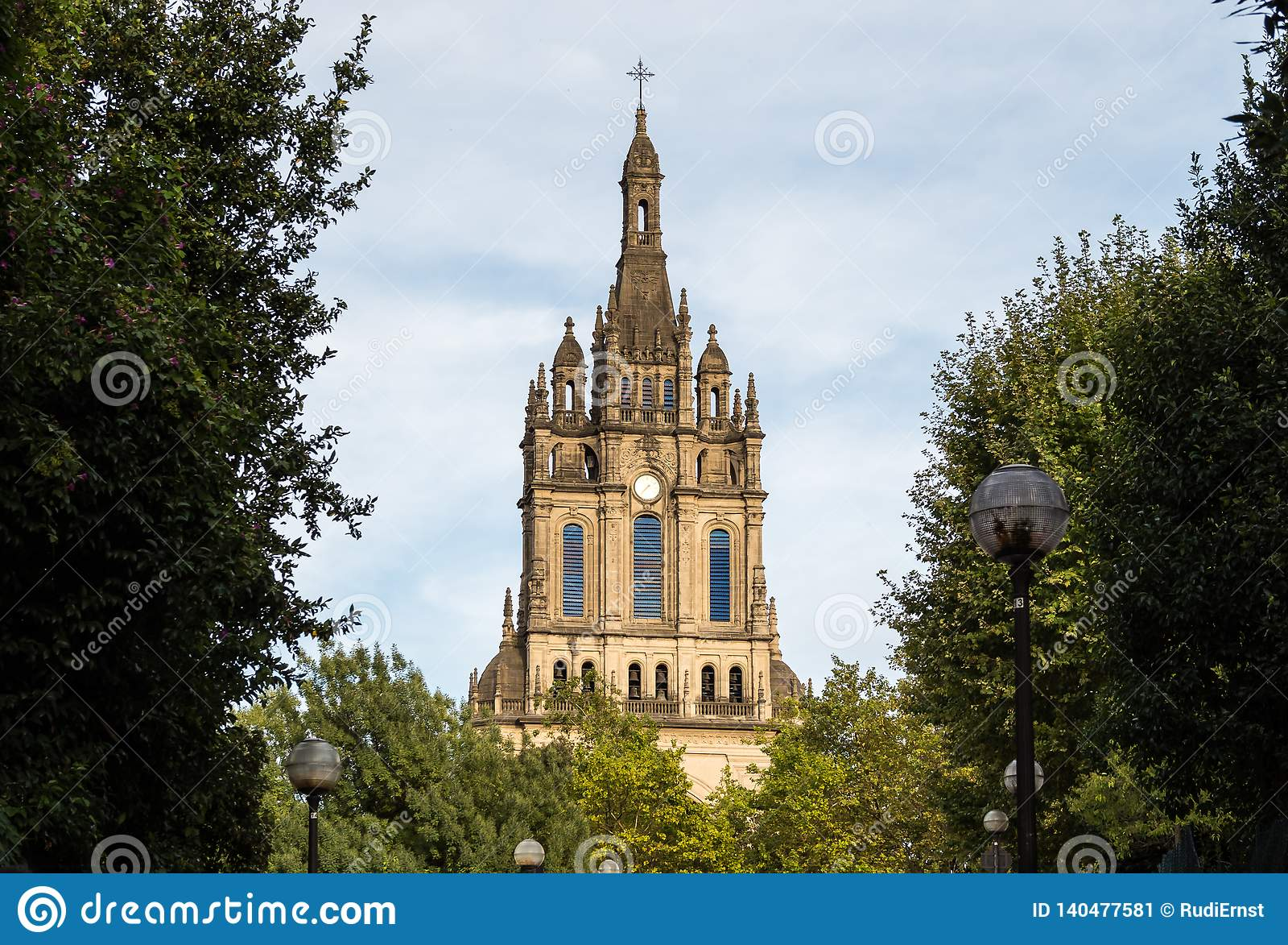 A basílica da begônia em Bilbao da Espanha