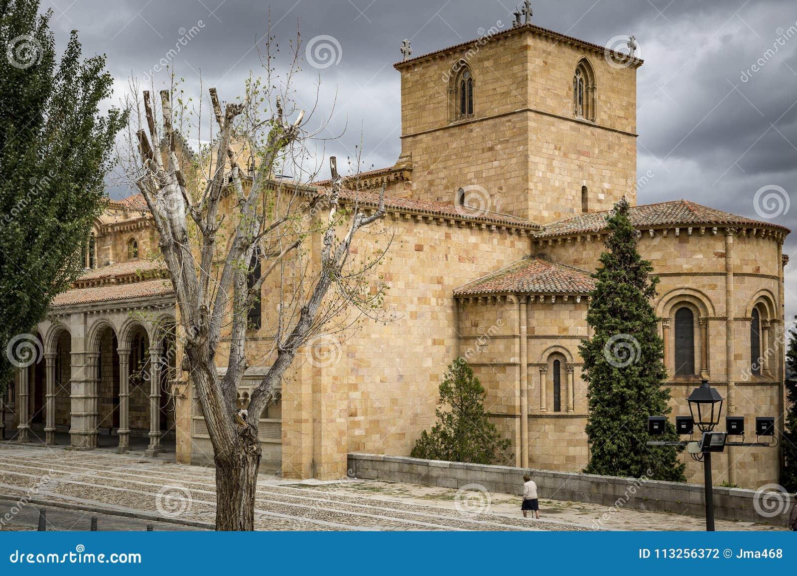 Basílica de San Vicente en la ciudad de Ávila