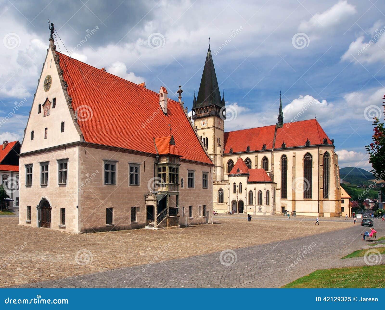 Basílica e câmara municipal, Bardejov, Eslováquia