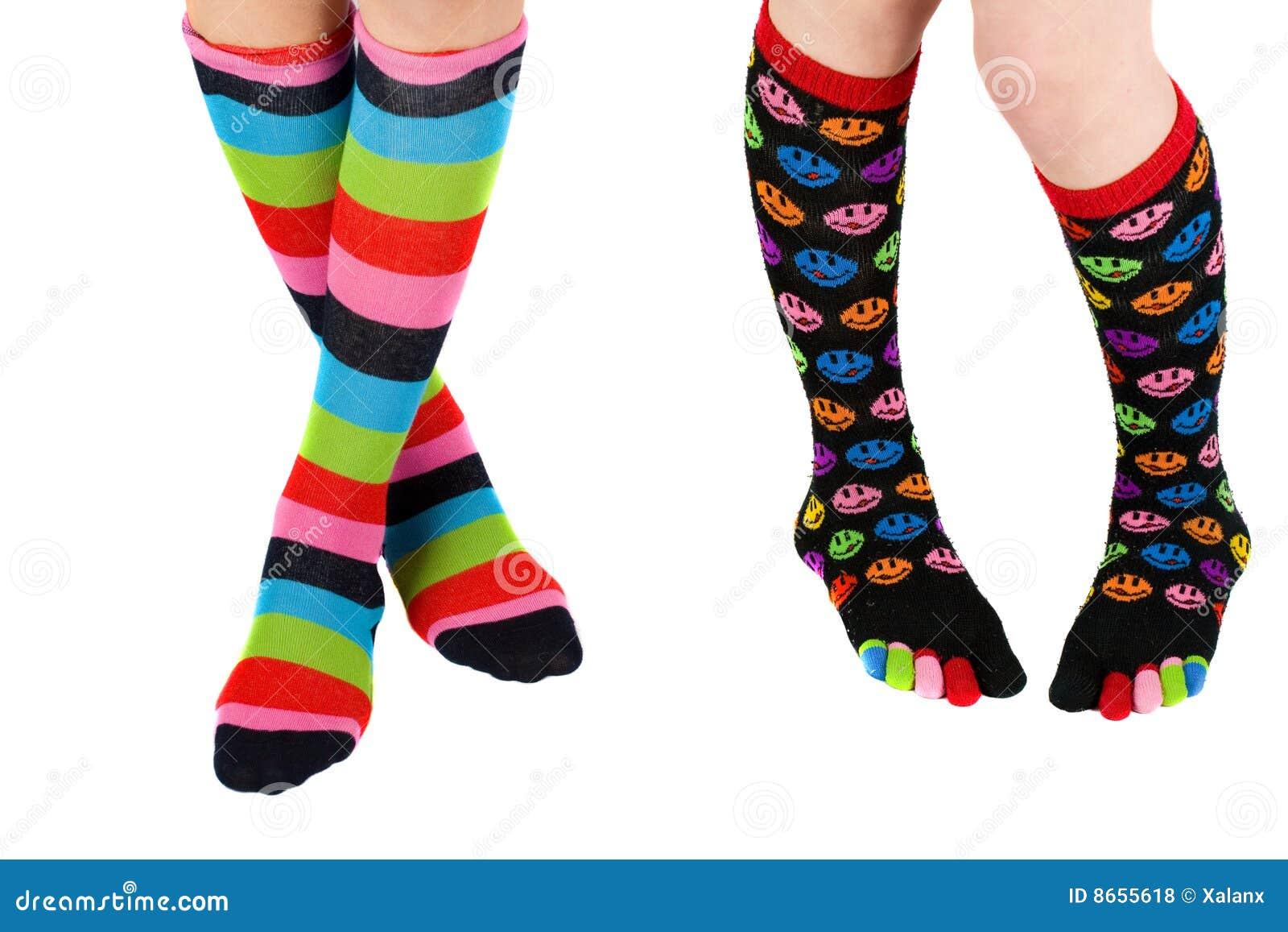 Bas colorés de pattes