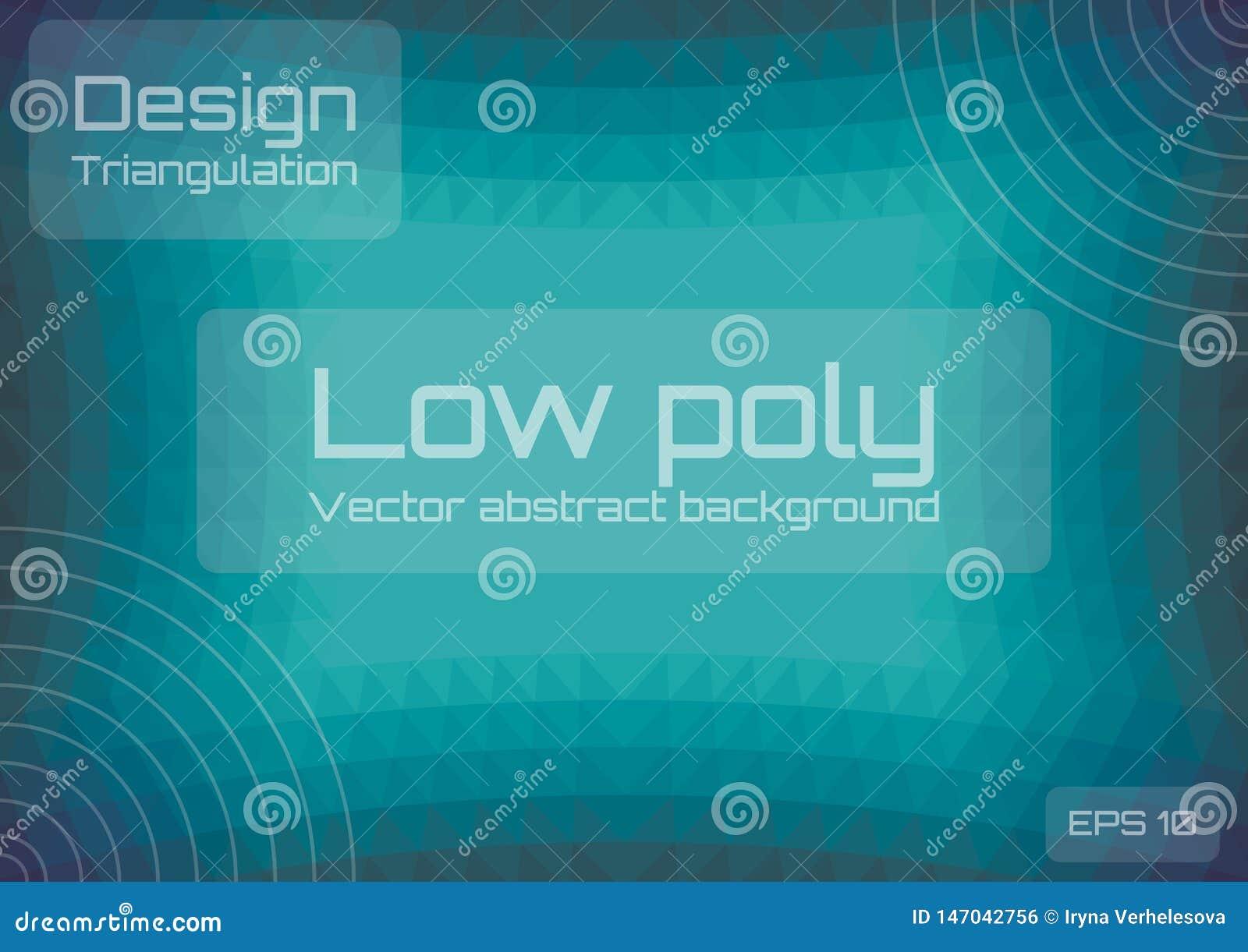 Bas poly fond abstrait vert-bleu Style géométrique de triangulation Calibre texturis?