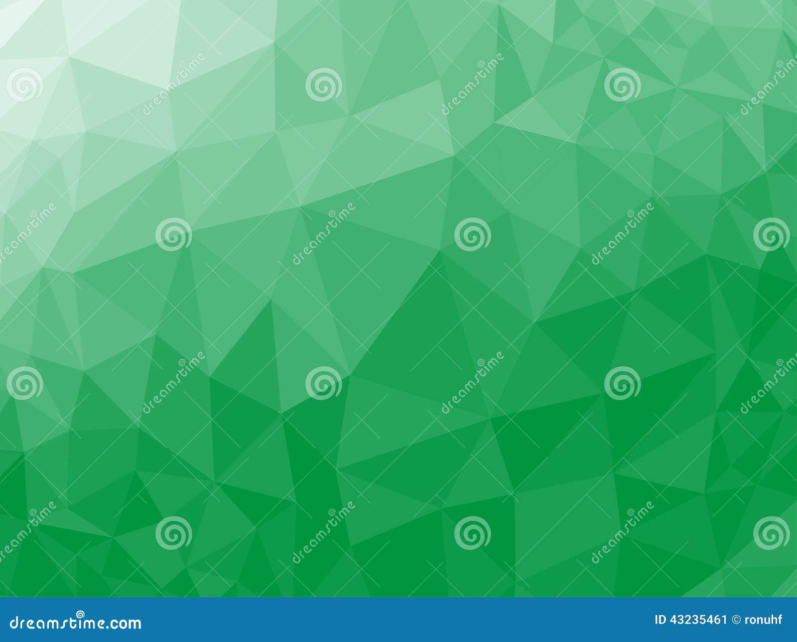Bas poly fond triangulaire fripé géométrique abstrait vert de graphique d illustration de vecteur de style
