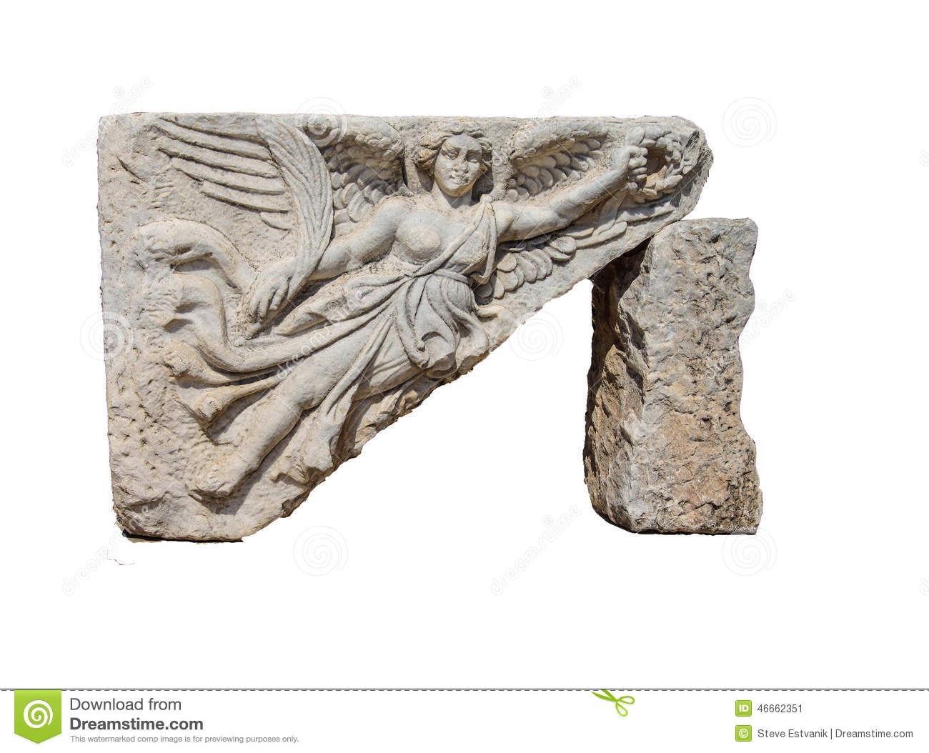Bas relief ofwinged harpy