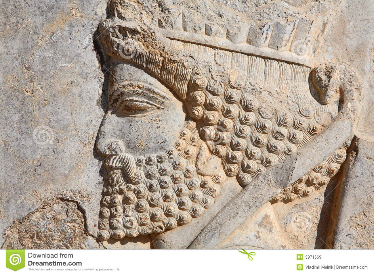Bas relief of persian soldier from persepolis ira royalty