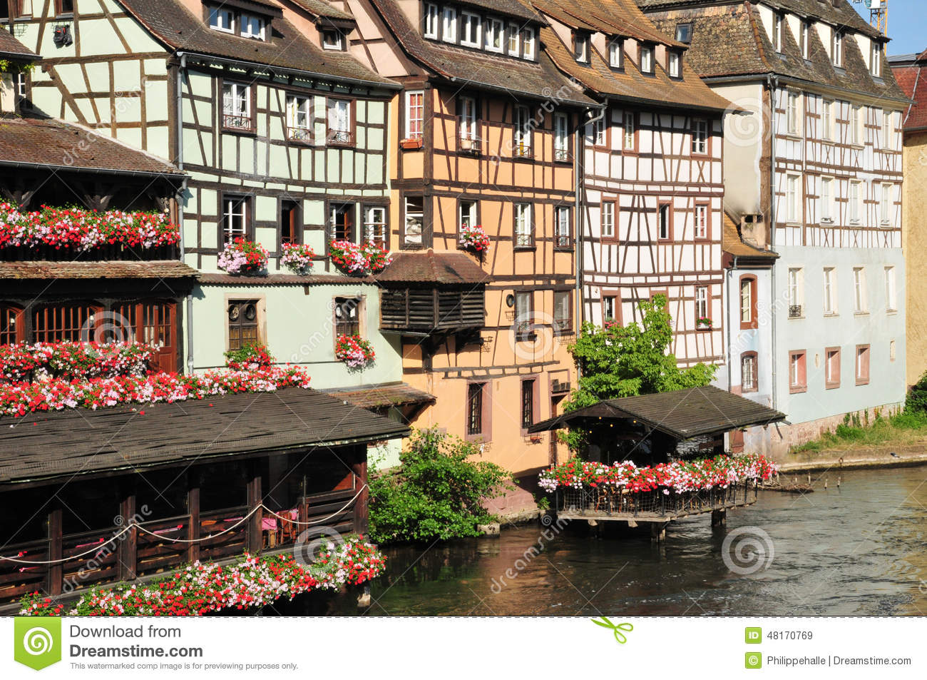 bas rhin the picturesque city of strasbourg in alsace editorial stock image image 48170769. Black Bedroom Furniture Sets. Home Design Ideas