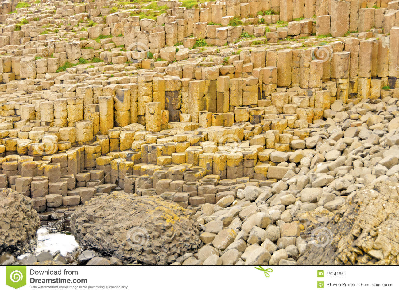 Basalt Columns And Pillow Lava At The Giant S Causeway