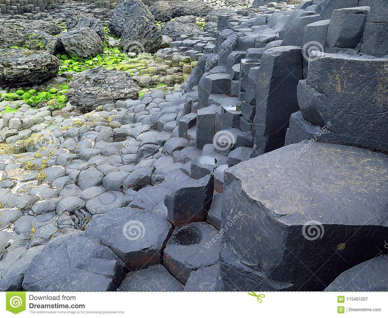 Giant`s Causeway`s Rock Formations