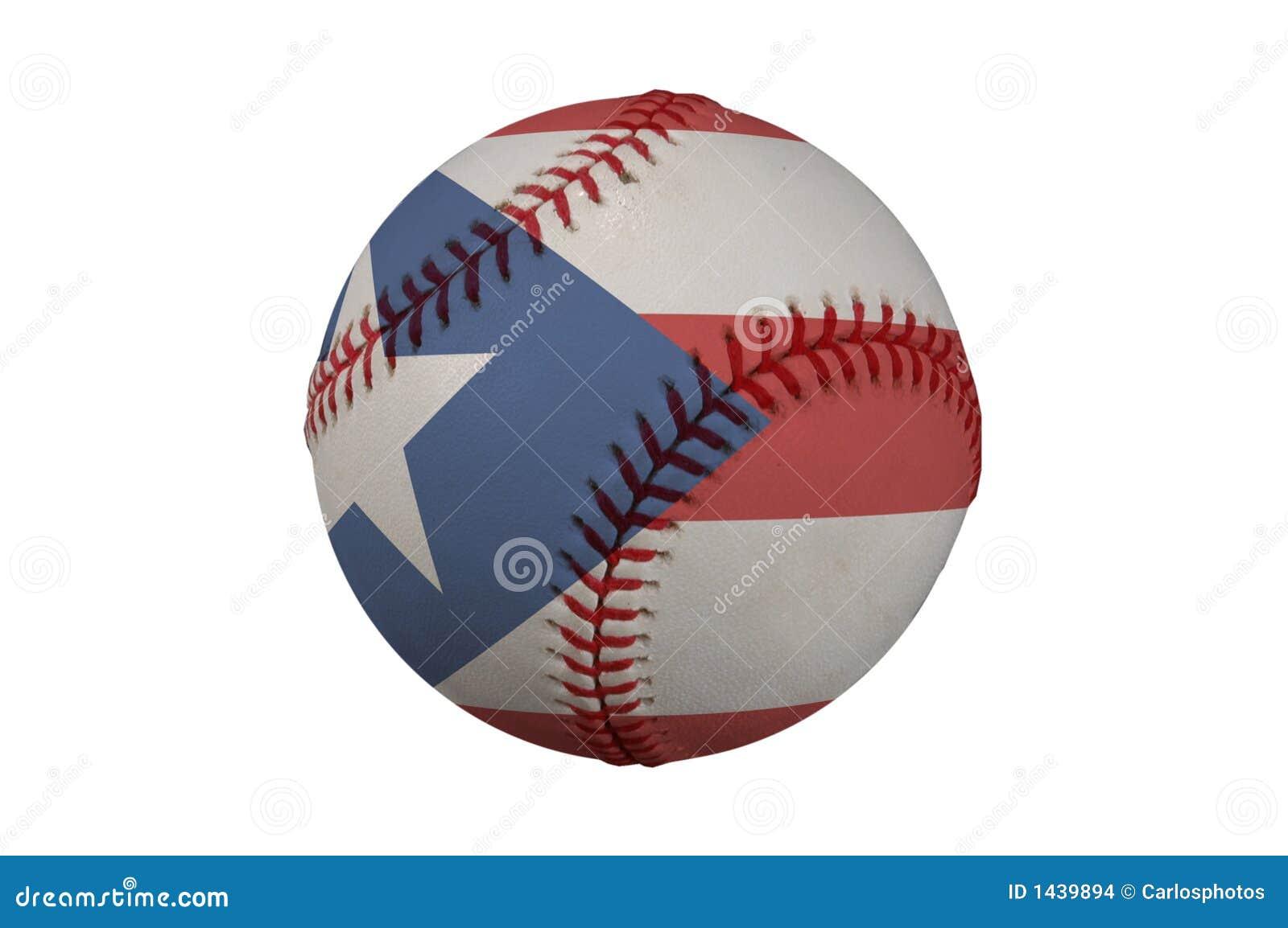 Base-ball avec l indicateur du Porto Rico