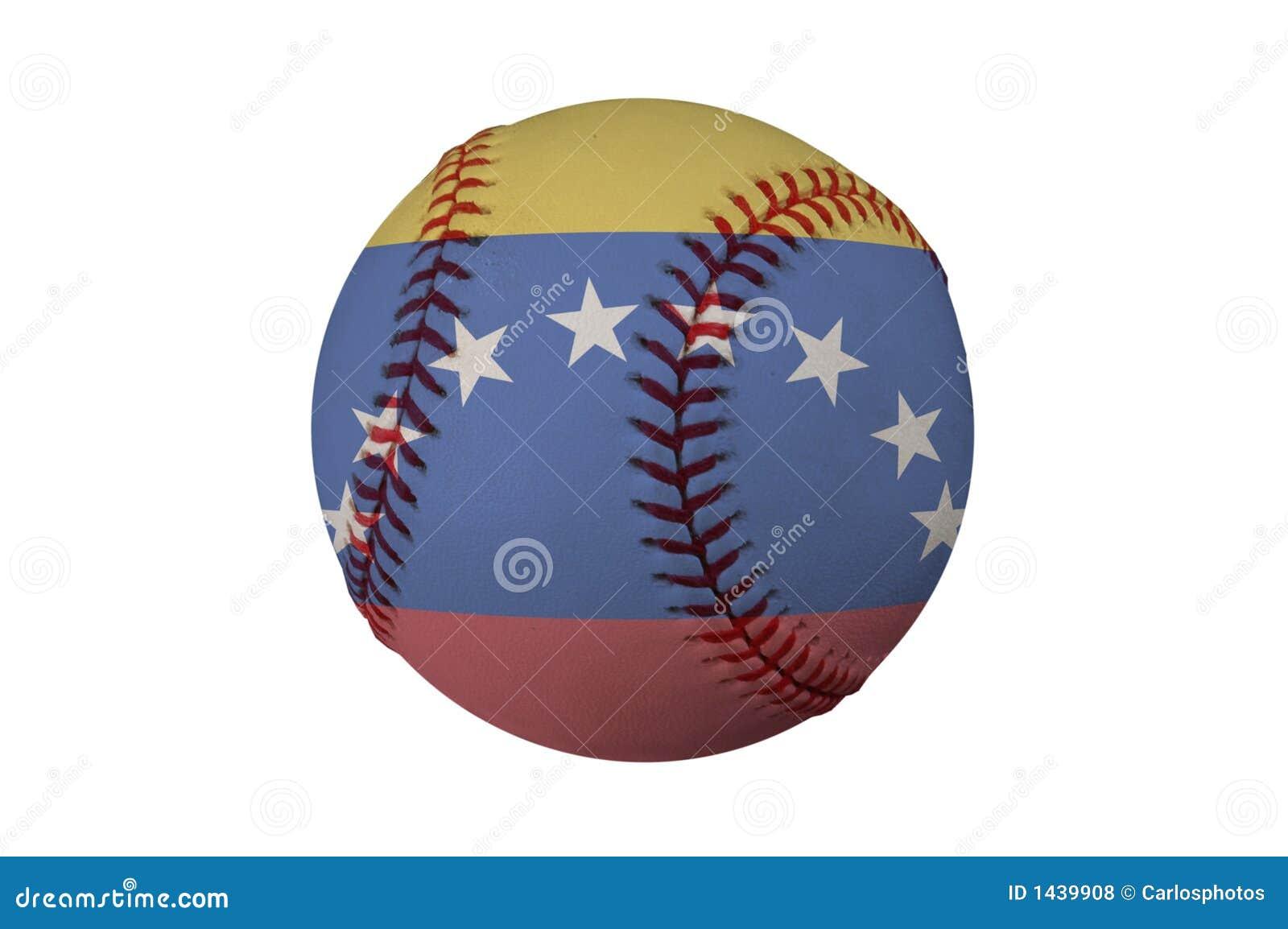 Base-ball avec l indicateur du Venezuela