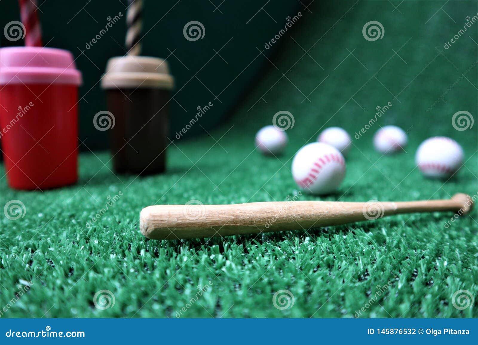 Base-ball et batte avec l espace de copie