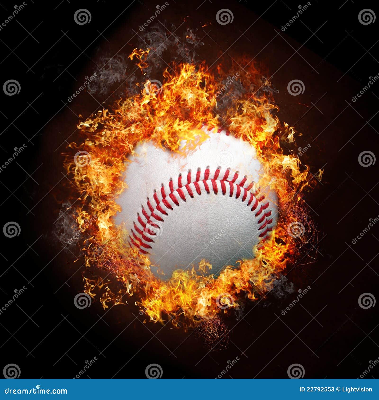 Base-ball sur l incendie
