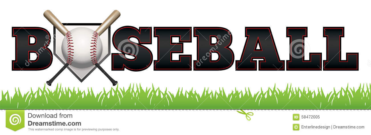 Base-ball Word Art Illustration