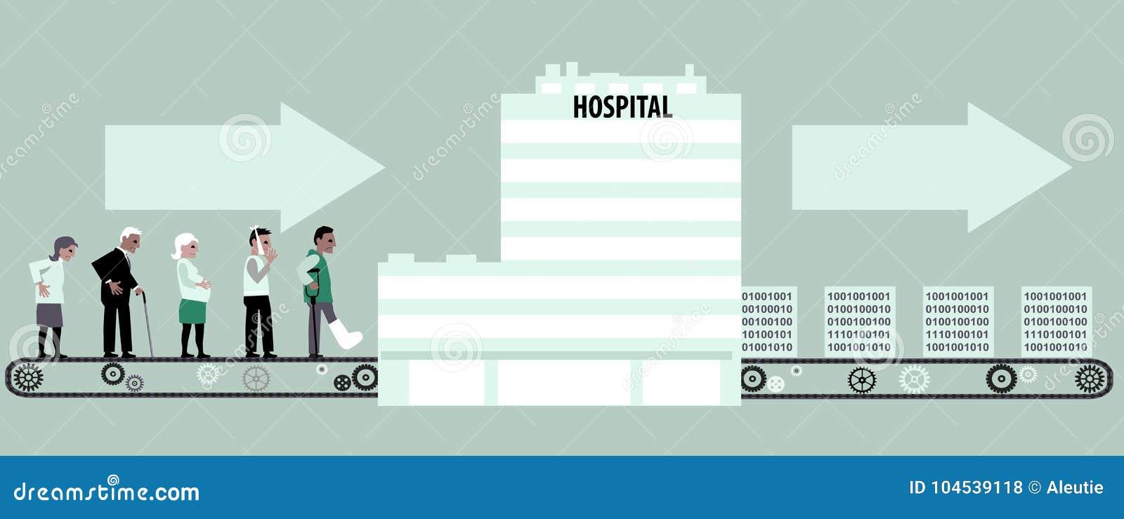 Base de datos médica ilustración del vector. Ilustración de paciente ...