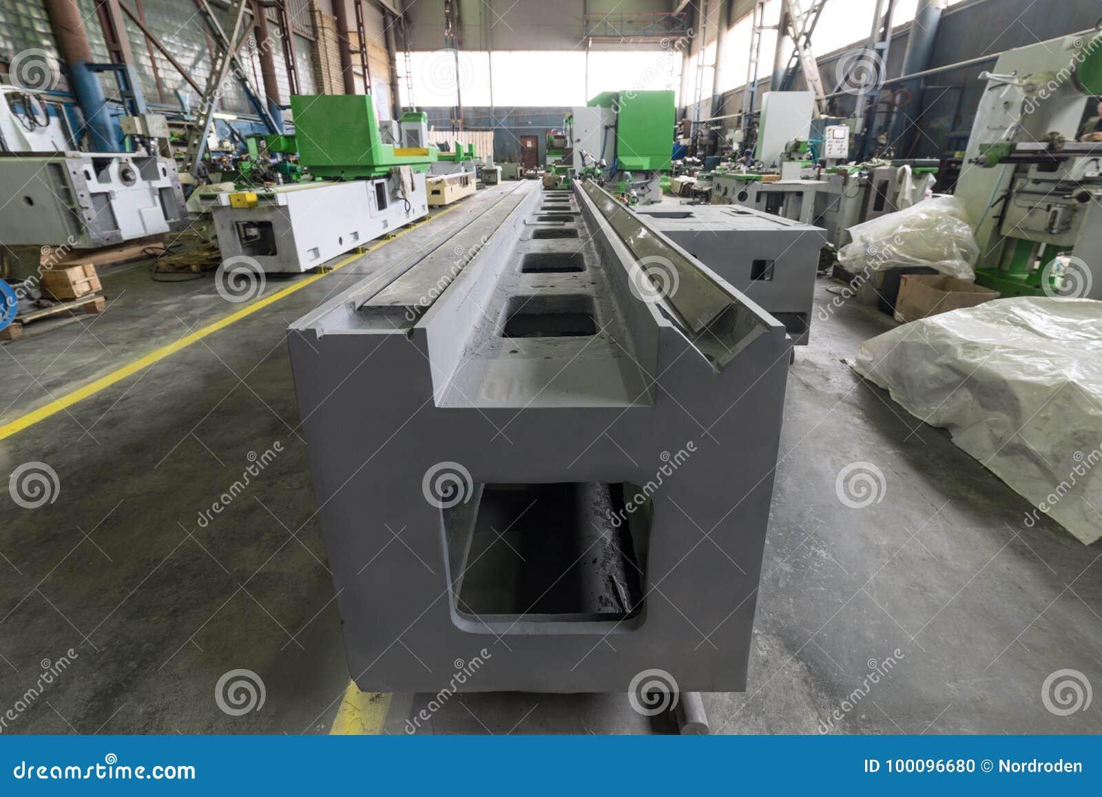 Base de la máquina-herramienta Nave de montaje de una fábrica moderna
