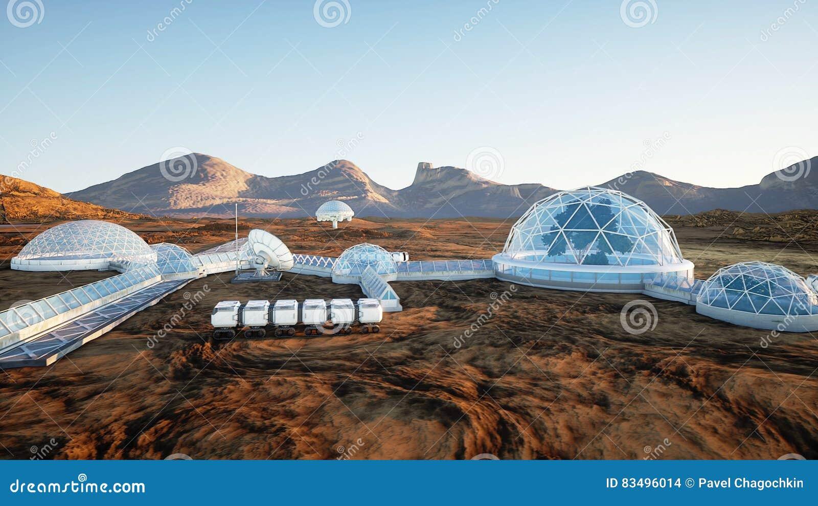 Resultado de imagen de Una Base en Marte
