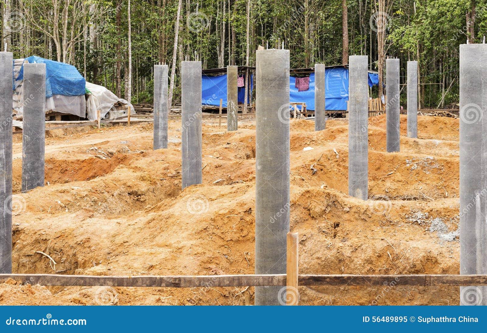 Base de pilier concret