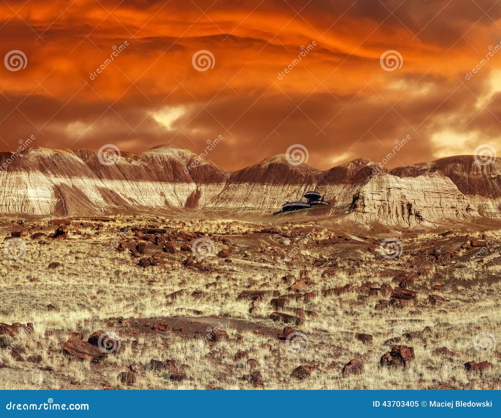 Base On Mars Abstract Natural Design Looking Like Martian Surfa - Sunrise looks like mars