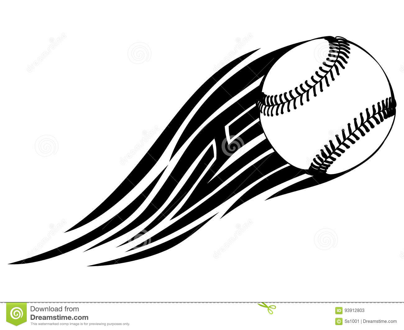 20bdc348 Abstract vector illustration black and white baseball ball with tribal  wing. Design for tattoo or print t-shirt.