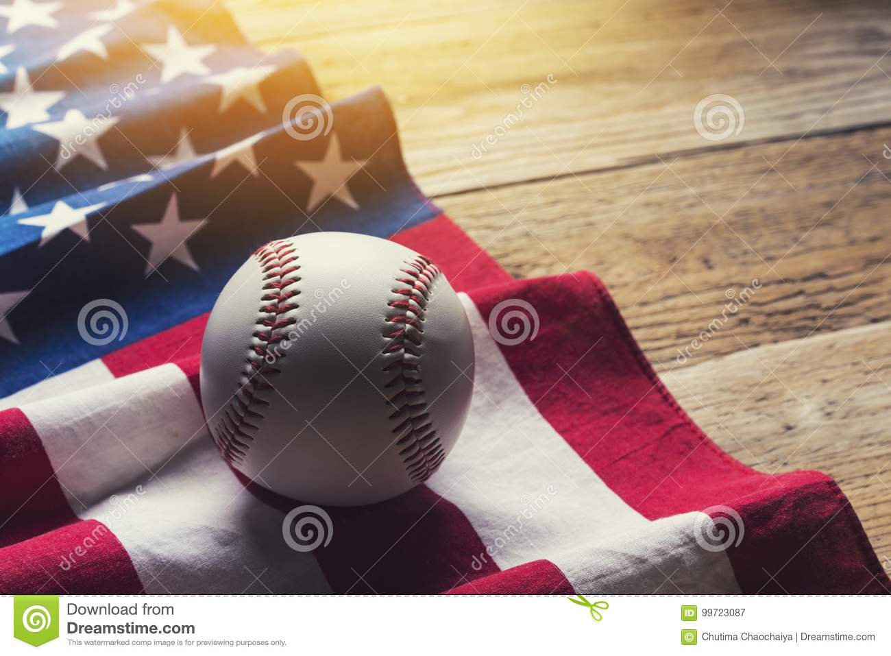 Baseball With American Flag In The Background Stock Image - Image of ... 4e9750d11