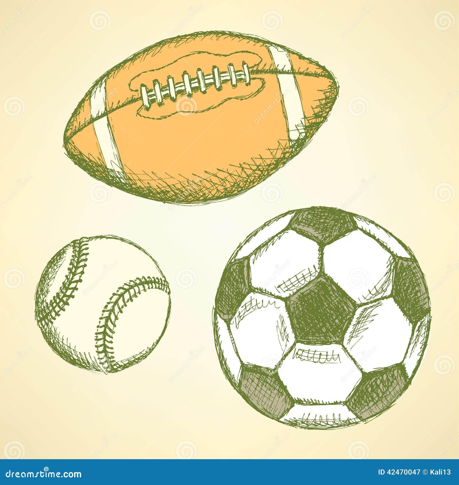 Baseball, amerikanischer Fußball und Fußbälle