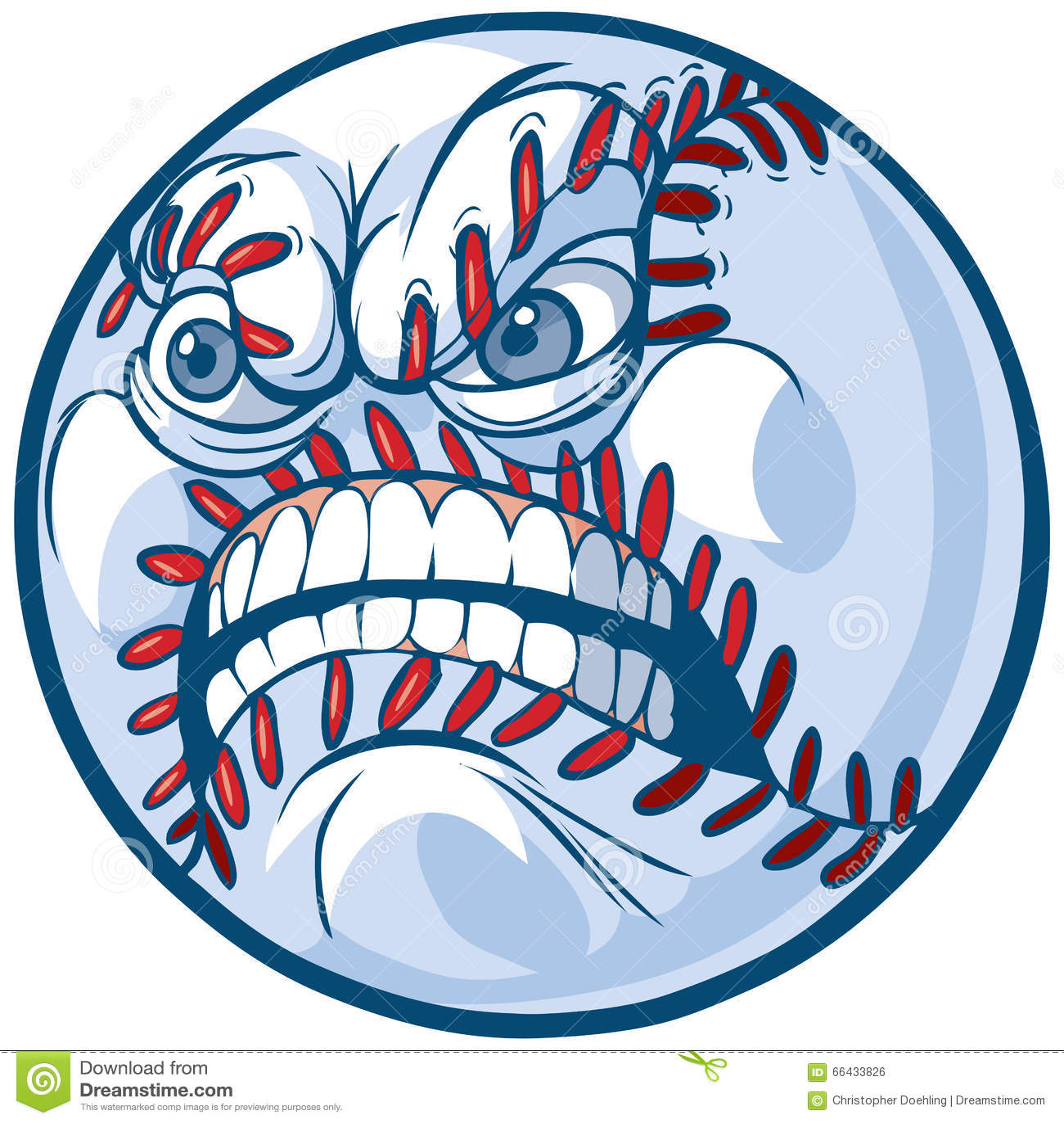 baseball with angry face vector cartoon illustration stock vector rh dreamstime com baseball laces vector art baseball laces vector art