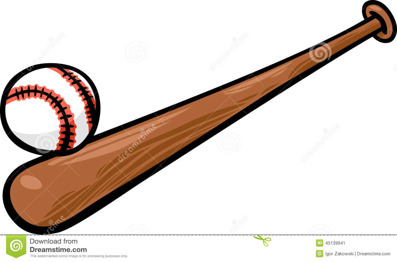 baseball ball and bat cartoon clip art stock vector illustration rh dreamstime com baseball bat clipart png baseball bat and ball clip art