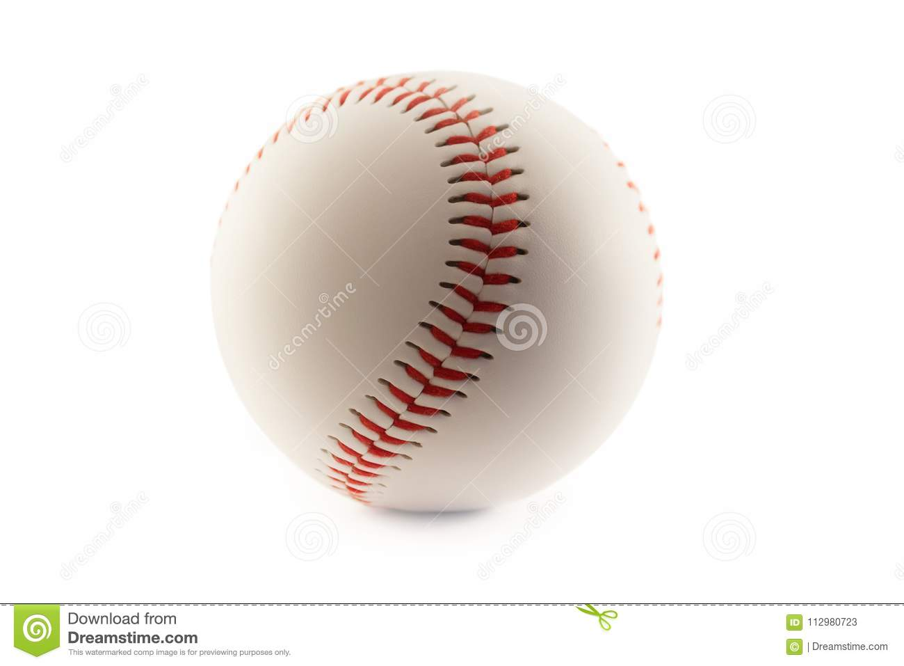 Baseball ball isolated in white background
